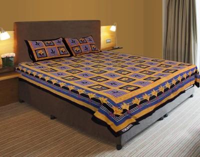 Mango Furnishings Cotton Floral Double Bedsheet