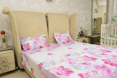 Sassoon Cotton Floral King sized Double Bedsheet
