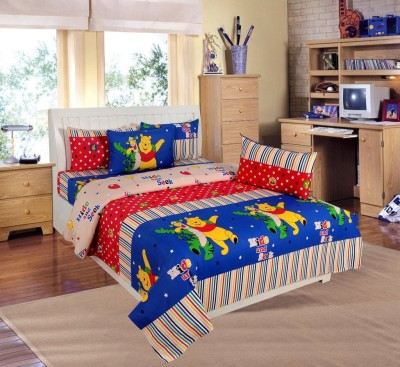 Laying Style Cotton Floral Double Bedsheet