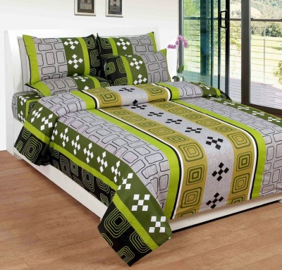 AS Cotton Geometric Double Bedsheet