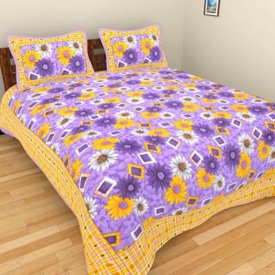 Fashion Fab Cotton Floral Double Bedsheet