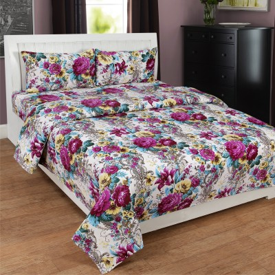 Mesmeric Polyester 3D Printed Queen sized Double Bedsheet