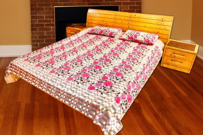 Arizen Cotton Floral King sized Double Bedsheet