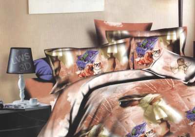 Skilin Polycotton Abstract King sized Double Bedsheet