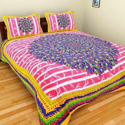 GRJ India Cotton Abstract Double Bedsheet