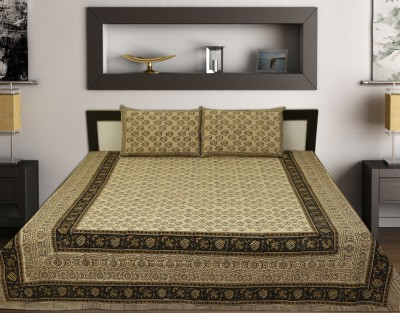 ahmedabadprint Cotton Floral King sized Double Bedsheet