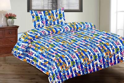 Vintana Cotton Cartoon Single Bedsheet