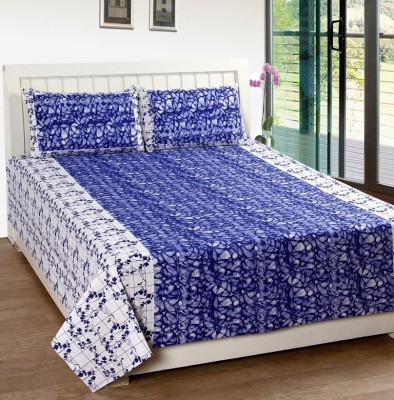 K Décor Cotton Printed Double Bedsheet