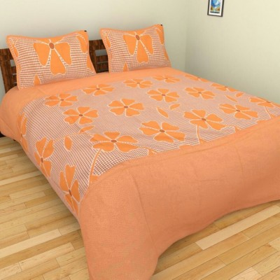MS NAKHRO Cotton Abstract Double Bedsheet