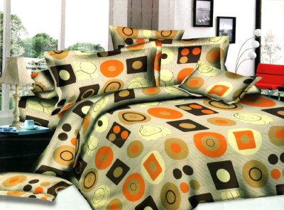 GBL COLLECTION Polyester Geometric Double Bedsheet