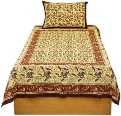 sleepwell Cotton Floral Single Bedsheet