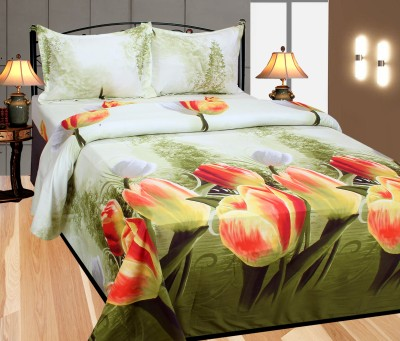 Azaani Polycotton Floral King sized Double Bedsheet