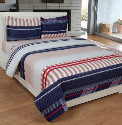 SKYTEX Cotton 3D Printed Single Bedsheet