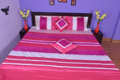 Calypso Silk Striped Double Bedsheet