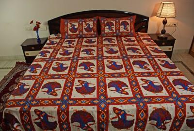 Smile2u Retailers Cotton Printed King sized Double Bedsheet