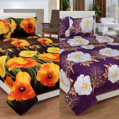 SKYTEX Cotton 3D Printed Double Bedsheet