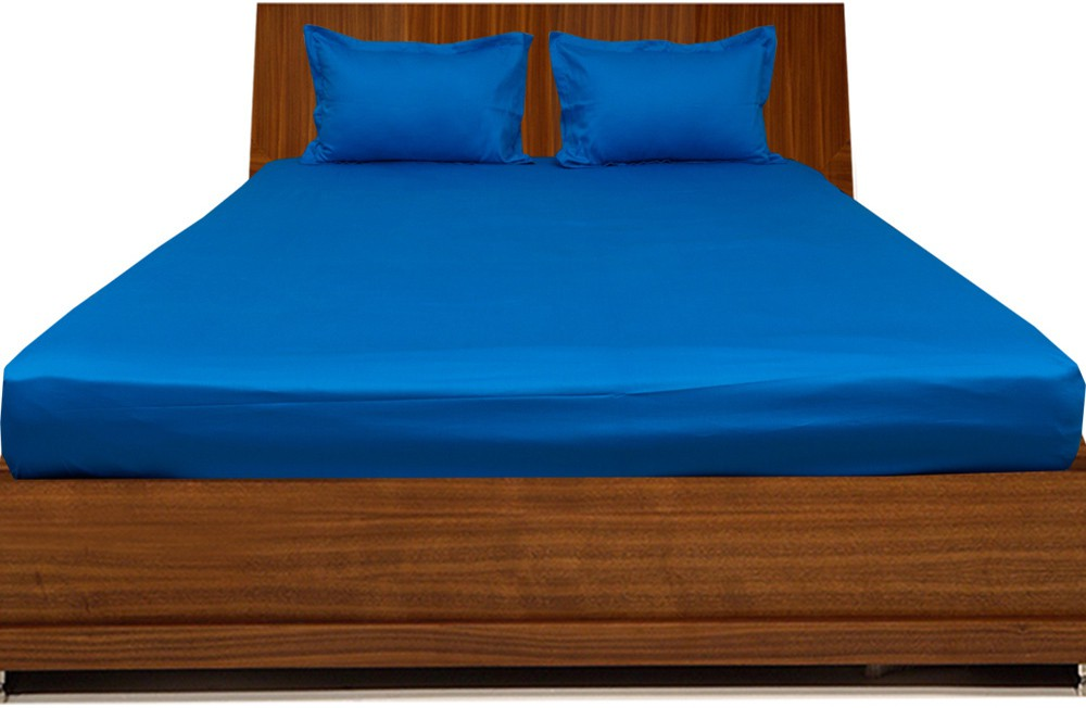 LNT Cotton Plain King sized Double Bedsheet