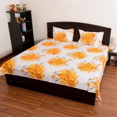 D&D Crafts Cotton Floral Double Bedsheet
