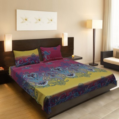 Supreme Cotton Abstract Queen sized Double Bedsheet