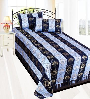 Milan Polycotton, Silk Striped Single Bedsheet