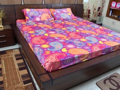 Adinath Polyester Paisley Double Bedsheet