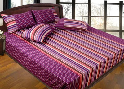 Best Craft Cotton Abstract Queen sized Double Bedsheet