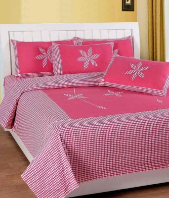 Sparklings Cotton Embroidered Double Bedsheet