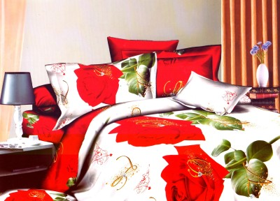 Tima By Fablooms Polycotton Floral Double Bedsheet