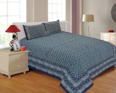 Salona Bichona Cotton Floral Double Bedsheet