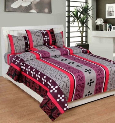 AZ Cotton Geometric Double Bedsheet