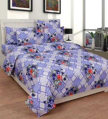 La Elite Cotton Floral Double Bedsheet