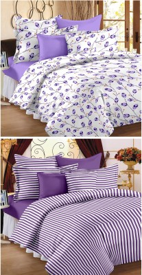 Happy Life Cotton Striped Double Bedsheet