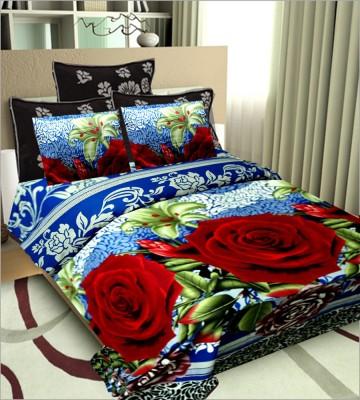 Vugis Cotton Floral Double Bedsheet