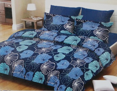 Glow Cotton Floral King sized Double Bedsheet