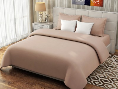 Desi Connection Cotton Plain Double Bedsheet