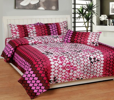DHF Polycotton Printed Double Bedsheet