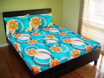 Vibrant Homze Polycotton Floral Double Bedsheet