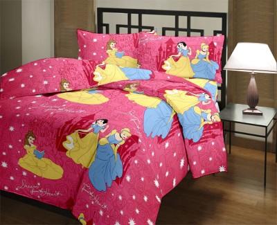 Home Castle Satin Cartoon Single Bedsheet