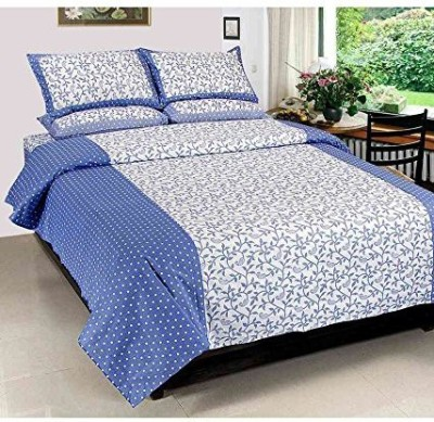 Panipat Textile Hub Polycotton Floral Double Bedsheet