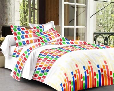 Factorywala Cotton Checkered Double Bedsheet