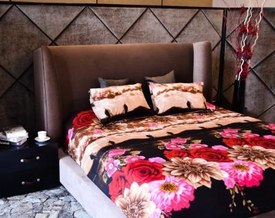 Shopcrats Polycotton Floral Double Bedsheet