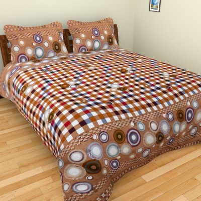 Ruby Polycotton Checkered Double Bedsheet