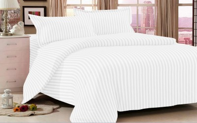 Double A Creation Cotton Striped Double Bedsheet