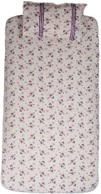 Blooming Buds Cotton Printed Single Bedsheet