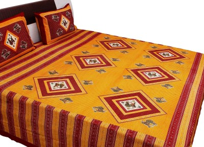 RV COLLECTION Cotton Printed Double Bedsheet