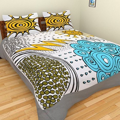 DeCor Queen Cotton Abstract Queen sized Double Bedsheet
