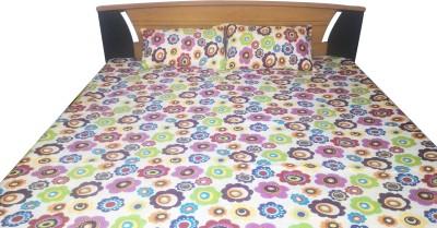 Aashri Polycotton Floral Double Bedsheet