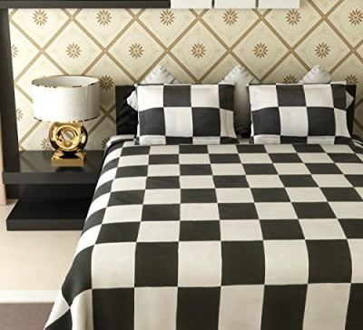 Raj shobha Home Decor Cotton Checkered Double Bedsheet