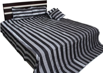Soundarya Polyester Silk Blend Plain Queen sized Double Bedsheet