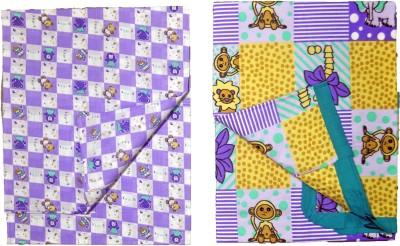 Babysid Collections Cotton Self Design Single Bedsheet